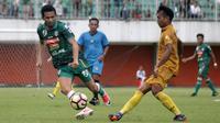 Uji coba PSS vs Bhayangkara FC di Stadion Maguwoharjo, Sleman. (Bola.com/Ronald Seger Prabowo)