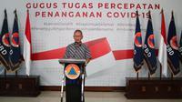 Juru Bicara Pemerintah untuk Covid-19 Achmad Yurianto saat konferensi pers Corona di Graha BNPB, Jakarta, Sabtu (28/3/2020). (Dok Badan Nasional Penanggulangan Bencana/BNPB)