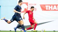 Timnas Indonesia U-23 kalah 1-2 dari Thailand pada Merlion Cup 2019 di Stadion Jalan Besar, Singapura, Jumat (7/6/2019). (Flona Hakim/FAS)