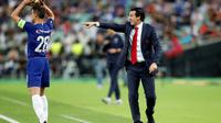 Manajer Arsenal, Unai Emery. (AP Photo/Darko Bandic)