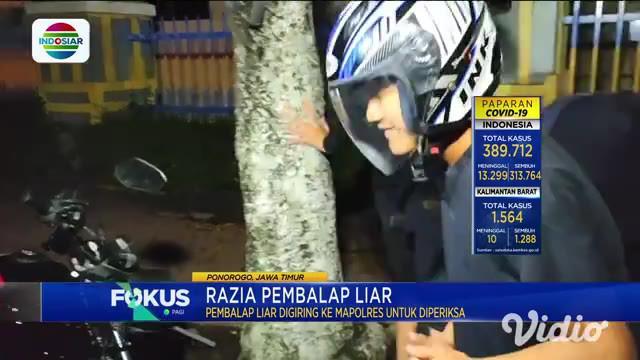 Polisi terpaksa melakukan upaya paksa, dalam menangkap seorang pembalap liar yang berusaha kabur. Selain menangkap seorang pembalap, polisi juga mengamankan 27 pemuda berikut motornya yang rata-rata tidak sesuai standard.