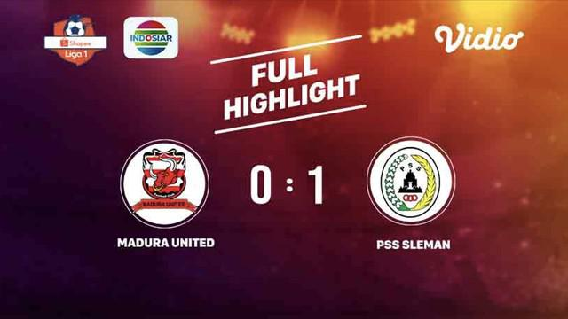 Laga lanjutan Shopee Liga 1,Madura United vs PSS Sleman berakhir dengan skor 0-1 #shopeeliga1 #MaduraUnited #PSSSleman
