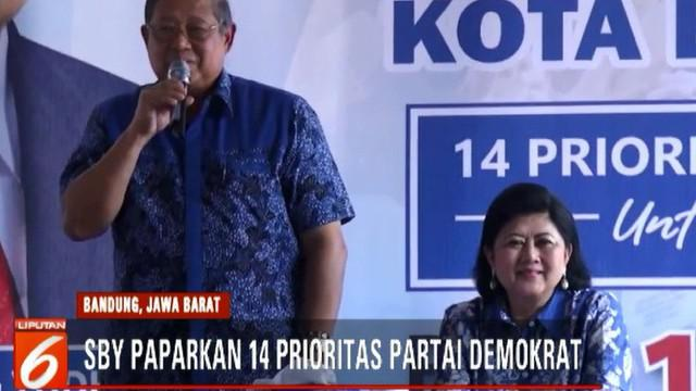 SBY juga meminta caleg Partai Demokrat memperjuangan pengangkatan guru honorer sebagai Aparatur Sipil Negara dan melanjutkan pembangunan infrastruktur.