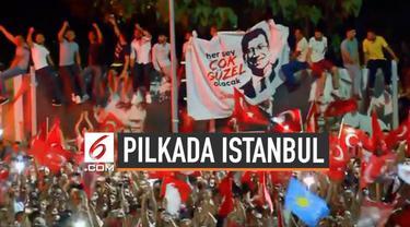 Ekrem Imamoglu memenangi pemilihan Wali Kota Istanbul Turki. Hasil pencoblosan ulang memastikan kandidat Wali Kota Erdogan, Binali Yildirim kembali kalah.