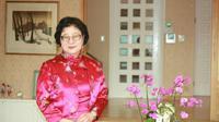 Xiang Xueqiu, istri Dubes Belgia. (Dok. Twitter/@Lan_Pham_/https://twitter.com/Lan_Pham_/status/1384790090832965632/photo/2)