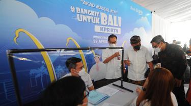 Akad KPR masal yang dilakan Bank BTN di Bali