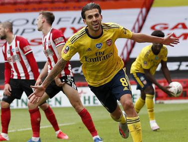 FOTO: Taklukkan Sheffield United, Arsenal Melaju ke Semifinal Piala FA