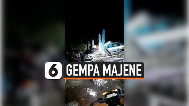 Gempa magnitudo 6,2 mengguncang wilayah Majene, Sulawesi Barat. Beredar rekaman seorang anak tertimbun reruntuhan bangunan dan coba dievakuasi.