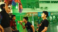 Super Soccer Eliminasi Euro Futsal Championship di Palembang pada Sabtu (21/10/2018) berlangsung meriah. (Euro Futsal Championship)