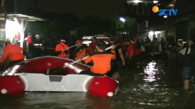 Salah satu lokasi yang terendam banjir adalah Perumahan Kampung Bulak, Pondok Aren, Tangerang Selatan.