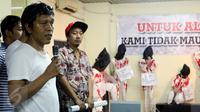 Refleksi Gerakan Mahasiswa Reformasi 98 ini merupakan bentuk penyadaran perlawanan kembali bahwa cita-cita Reformasi sudah melenceng oleh oknum - oknum yang ingin memecahkan NKRI, Jakarta Pusat, Senin (15/05). (Liputan6.com/Johan Tallo)