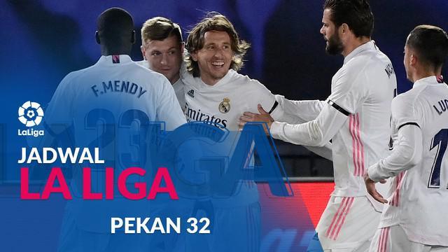 Berita motion grafis jadwal Liga Spanyol pekan ke-32, Real Madrid hadapi Real Betis.