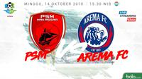 Liga 1 2018 PSM Makassar Vs Arema FC (Bola.com/Adreanus Titus)
