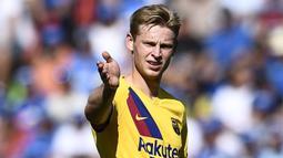 2. Frenkie de Jong (72 juta euro) - Frenkie de Jong mampu tampil apik bersama Barcelona pada musim 2019/2020. Pemain berusia 23 tahun ini memiliki harga transfer senilai 72 juta uero. (AFP/Oscar Del Pozo)