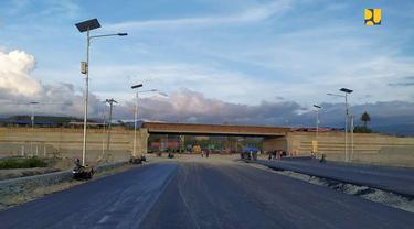 Kementerian Pekerjaan Umum dan Perumahan Rakyat (PUPR) tengah mempercepat pembangunan Flyover Pantoloan di Kota Palu. (Dok Kementerian PUPR)