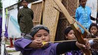 Jemparingan, tradisi panahan kuno budaya Yogyakarta (AFP)