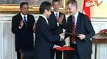 Presiden Susilo Bambang Yudhoyono, Rabu sore waktu Oslo, bertemu dengan Perdana Menteri Norwegia Jens Stoltenberg. Dalam pertemuan yang berlangsung di Hagestuen Goverment Guest House, kedua pemimpin membicarakan mengenai peningkatan hubungan bilateral ked