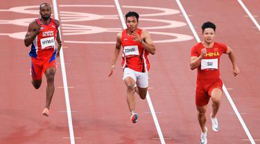 Sprinter andalan Indonesia, Lalu Muhammad Zohri, gagal melaju ke babak semifinal nomor 100 meter putra Olimpiade Tokyo 2020. (Dok NOC Indonesia)