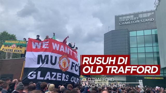 Berita video kerusuhan terjadi di Stadion Old Trafford sebelum laga Manchester United Vs Liverpool, Minggu (2/5/21)
