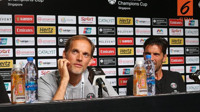 Pelatih Paris Saint-Germain, Thomas Tuchel (Bola.com/Wiwig Prayugi)