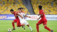Timnas Indonesia U-16 bermain imbang 1-1 melawan Vietnam pada matchday kedua Grup C Piala AFC 2018 di Stadion Bukit Jalil, Kuala Lumpur, Senin (24/9/2018). (AFC)