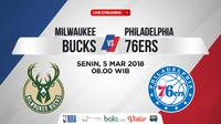 Jadwal NBA, Milwaukee Bucks Vs Philadelphia 76ers. (Bola.com/Dody Iryawan)