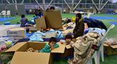 di Nagano pada 14 Oktober 2019, setelah Topan Hagibis jatuh ke Jepang pada 12 Oktober, melepaskan angin kencang dan hujan lebat di 36 dari 47 prefektur di negara itu, dan memicu tanah longsor dan banjir besar. - Puluhan ribu pekerja pertolongan di Jepang bertempur pada 14 Oktober untuk menemukan ora