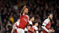 3. Pierre-Emerick Aubameyang (Arsenal) – 14 gol dan 3 assist (AFP/Glyn Kirk)