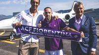 Franck Ribery resmi bergabung ke Fiorentina dengan status bebas transfer. (Twitter Fiorentina)