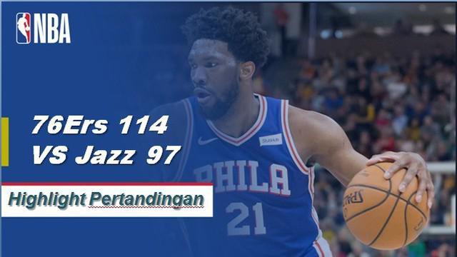 Ben Simmons mencetak triple-double ke-5 musim ini dengan 14 poin, 14 rebound, dan 12 assist saat 76ers mendapatkan kemenangan atas Jazz 114-97.