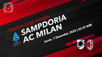 Sampdoria vs AC Milan (Liputan6.com/Abdillah)