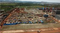 Pabrik pemurnian bijih nikel di Wilayah PT VDNI, Kabupaten Konawe, Sulawesi Tenggara. (Liputan6.com/Ahmad Akbar Fua)