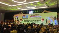 Acara HUT Golkar di Hotel Sultan Jakarta.
