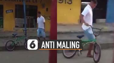 Video tutorial lucu cara agar sepeda tidak dimaling ini menarik perhatian.