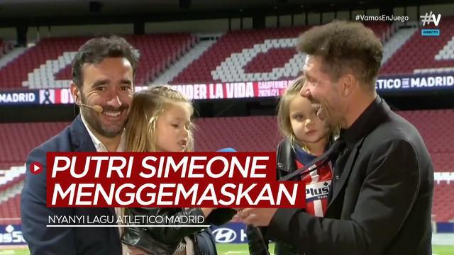 Berita video menggemaskannya putri Diego Simeone saat menyanyikan lagu Atletico Madrid.