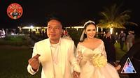 Momen resepsi pernikahan Vicky Prasetyo dan Kalina Ocktaranny (Sumber: YouTube/VICKY PRASETYO ENTERTAINMENT)