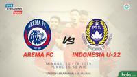 Arema FC vs Timnas Indonesia U-22. (Bola.com/Dody Iryawan)