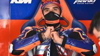 Miguel Oliveira saat mengikuti rangkaian balapan MotoGP Austria. (JOE KLAMAR / AFP)