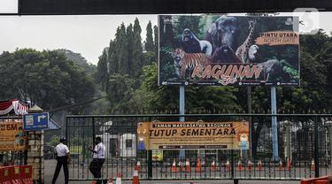 FOTO: Kasus COVID-19 Melonjak, Taman Margasatwa Ragunan Tutup Sementara