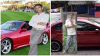 Foto editan dengan kendaraan mewah ini posenya bikin ketawa. (Sumber: funnyindianpicz/Twitter/@palramji)