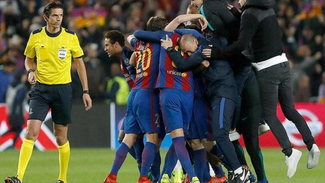 Uefa Tidak Akan Hukum Wasit Barcelona Vs Psg Bola Liputan6 Com