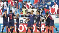 Thailand menang 1-0 melawan Bahrain di Piala Asia 2019 (Karim Sahib / AFP)