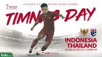 Kualifikasi Piala Dunia 2022 - Indonesia Vs Thailand - Timnas Day (Bola.com/Adreanus Titus)