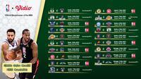 Streaming NBA Pekan Ke-20 di Vidio. (Sumber : dok. vidio.com)
