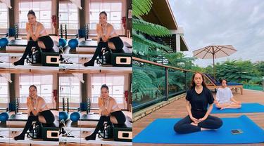Sebut Pilates Sebagai Terapi, Ini 6 Momen BCL saat Berolahraga