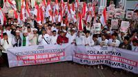 Sejumlah ulama dan santri yang tergabung dalam Jaringan Islam Kebangsaan (JIK) menggelar doa bersama untuk menjaga persaudaraan dan persatuan. (Istimewa)