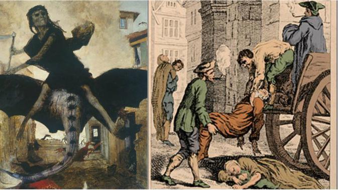 Ilustrasi wabah maut hitam atau Black Death (Wikipedia)