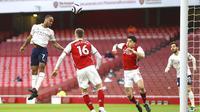 Gol cepat Raheem Sterling saat laga baru berjalan dua menit menjadi satu-satunya gol yang tercipta pada laga ini. (Julian Finney/Pool via AP)