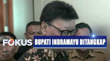 Selain Bupati Indramayu, ada tujuh orang lainnya yang ikut diamankan petugas KPK.