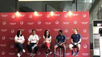 Konferensi pers peluncuran program AIA bertajuk Train the Trainer yang melibatkan dua pelatih dari Tottenham Hotspur. (Liputan6.com/Ahmad Fawwaz Usman)